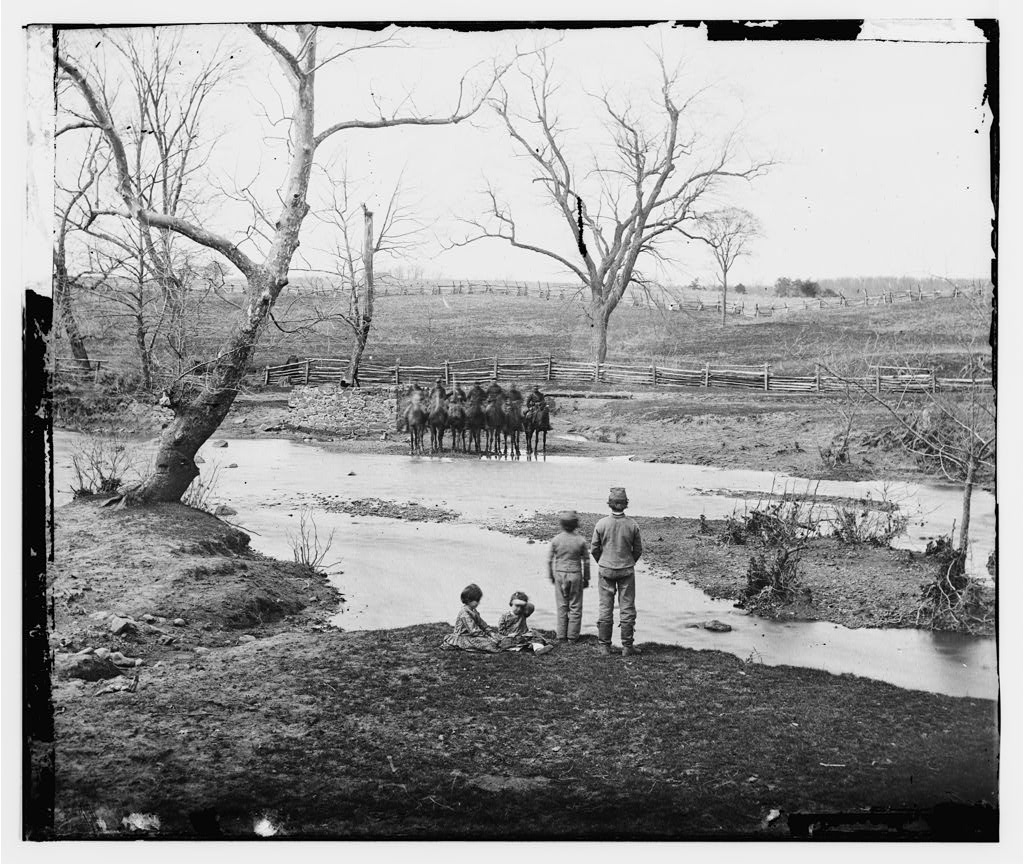 Soldiers at Sudley Ford