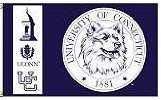 Uconn Huskies Flag