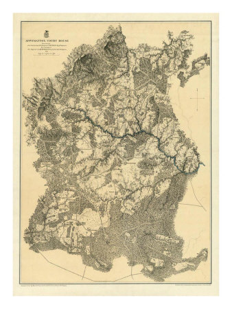 Civil War Map: Appomattox Court House, c.1869