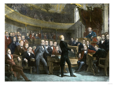 Henry Clay Arguing in the Us Senate for the Compromise of 1850 to Avert Civil War