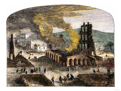 Confederate Quantrill Raid Burns Lawrence, Kansas, 1863