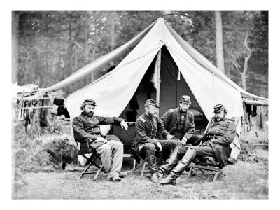 The Peninsula, VA, General McClellan's Officers, Civil War