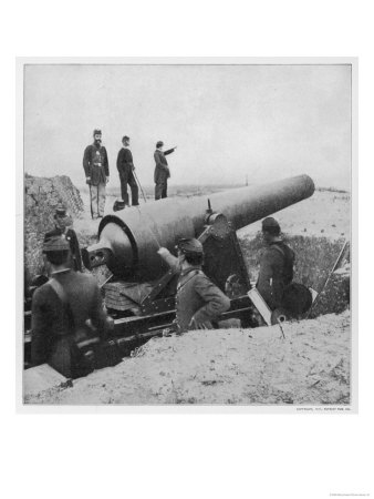 Coastal Gun of Sherman's Army at Fort Mcallister