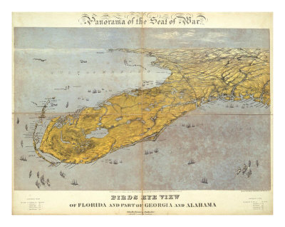 Florida and Part of Georgia and Alabama, c.1861