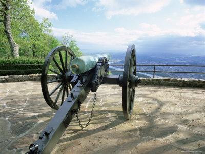 Cannon in Point Park Overlooking Chattanooga City, Chattanooga, Tennessee, United States of America