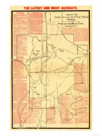 Battle of Chickamauga - Civil War Panoramic Map