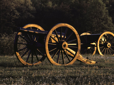 Civil War Cannon and Caisson, Manassas National Battlefield, Virginia