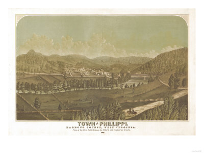 Philippi, West Virginia - Panoramic Map