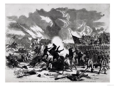 Great Battle at Wilson's Creek, Near Springfield, Missouri, 5,500 Union Troops and 23,000 Rebels