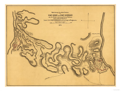 Battle of Fort Henry - Civil War Panoramic Map