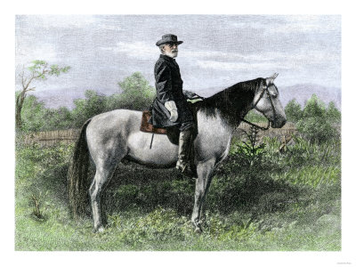 Confederate General Robert E. Lee on His Favorite War-Horse, Traveler
