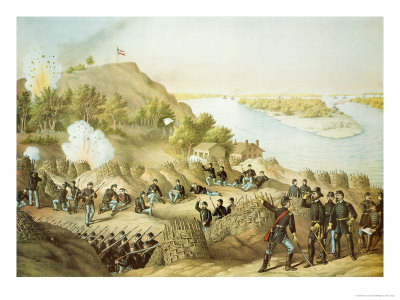 Siege of Vicksburg, 1863, Engraved by Kurz and Allison, 1888