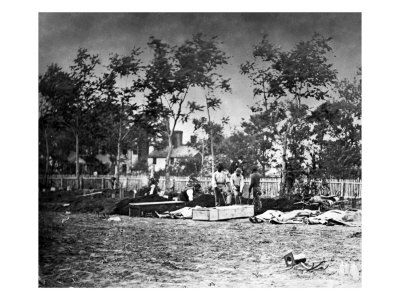 Fredericksburg, VA, Burying the Dead at the Hospital, Civil War