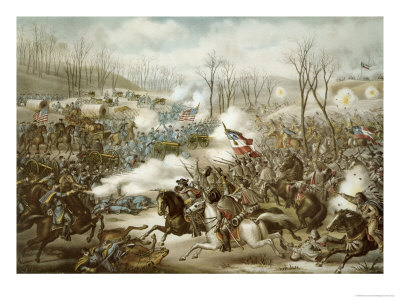 Battle of Pea Ridge, Arkansas, 6th-8th March, Engraved by Kurz and Allison