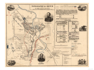 Battle of Stones River - Civil War Panoramic Map
