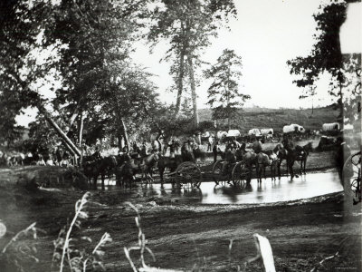 Federal Battery Fording a Tributary of Rappahannock, Battle Day, Cedar Mountain, Virginia, 1862