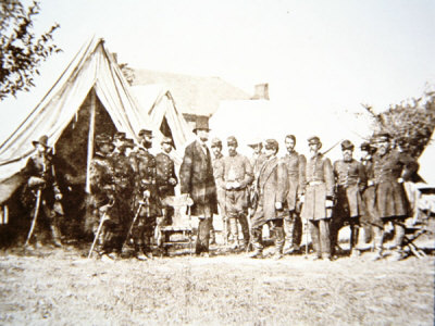 President Lincoln Meets His Generals at Antietam, 3rd October 1862
