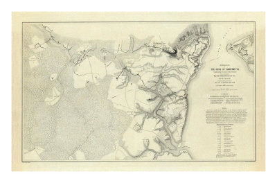 Civil War: Official Plan of The Siege of Yorktown Virginia, c.1862