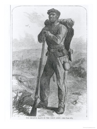 "The Escaped Slave in the Union Army, from ""Harper's Weekly"", 1864"