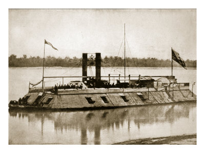 The First Ironclad Gunboat Built in America, 1861