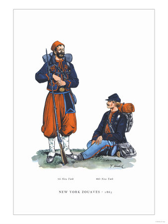 New York Zouaves, 1863
