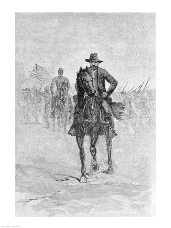 General Grant reconnoitering the confederate position at Spotsylvania court house