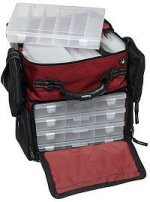 Soft fishing tackle box