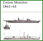 Union Monitor Civil War Ironclads