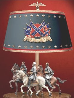 confederate collectible lamp
