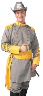 Adult Confederate Officer Uniform