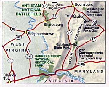 antietam battle map us civil war sharpsburg maryland 1862