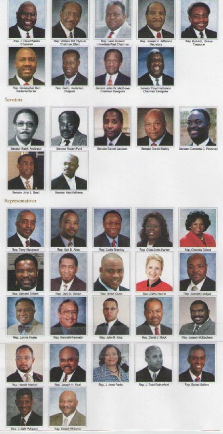 South Carolina Legislature African American Members  2010