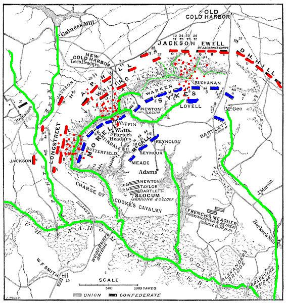 June 1862 The Battle of Gaines Mill Virginia Gaines Mill Battlefield Map on 1 6 miles river ariel map, civil war virginia map, battle of mill springs battle map, mechanicsville battle map, west civil war battle sites map, gaines mill civil war, original civil war battle map, battle of gaines mill map,