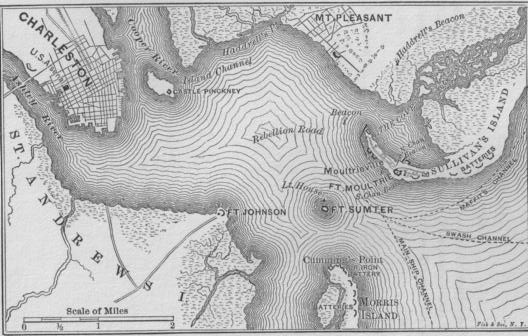 Charleston Harbor Map