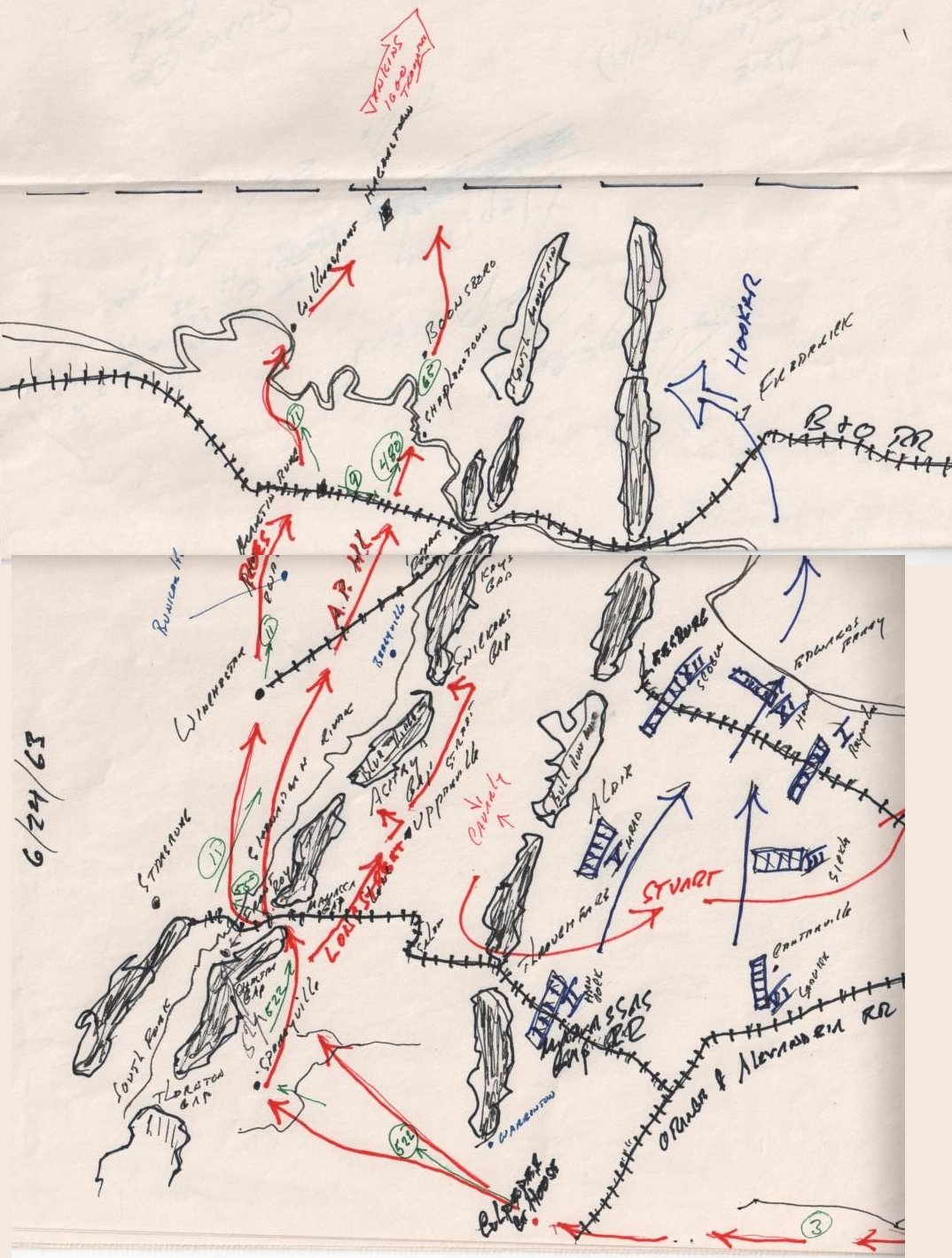 Civil War Army Movements At The Battle Of Gettysburg - Gettysburg pa in us map