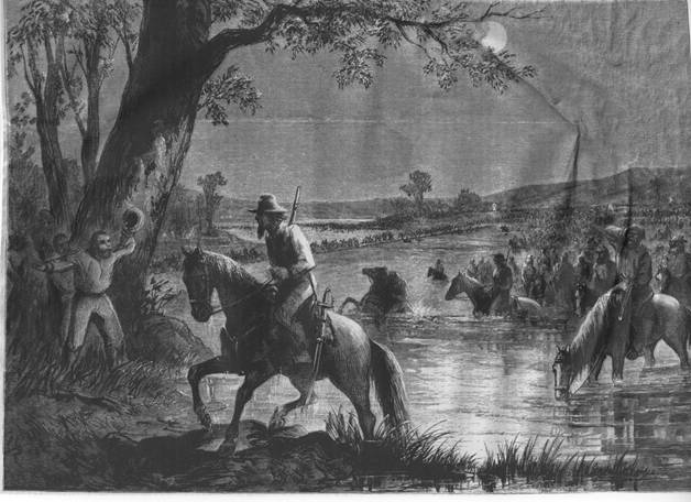 Rebel Army crossing the Potomac