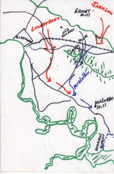 General McClellan Retreat Map