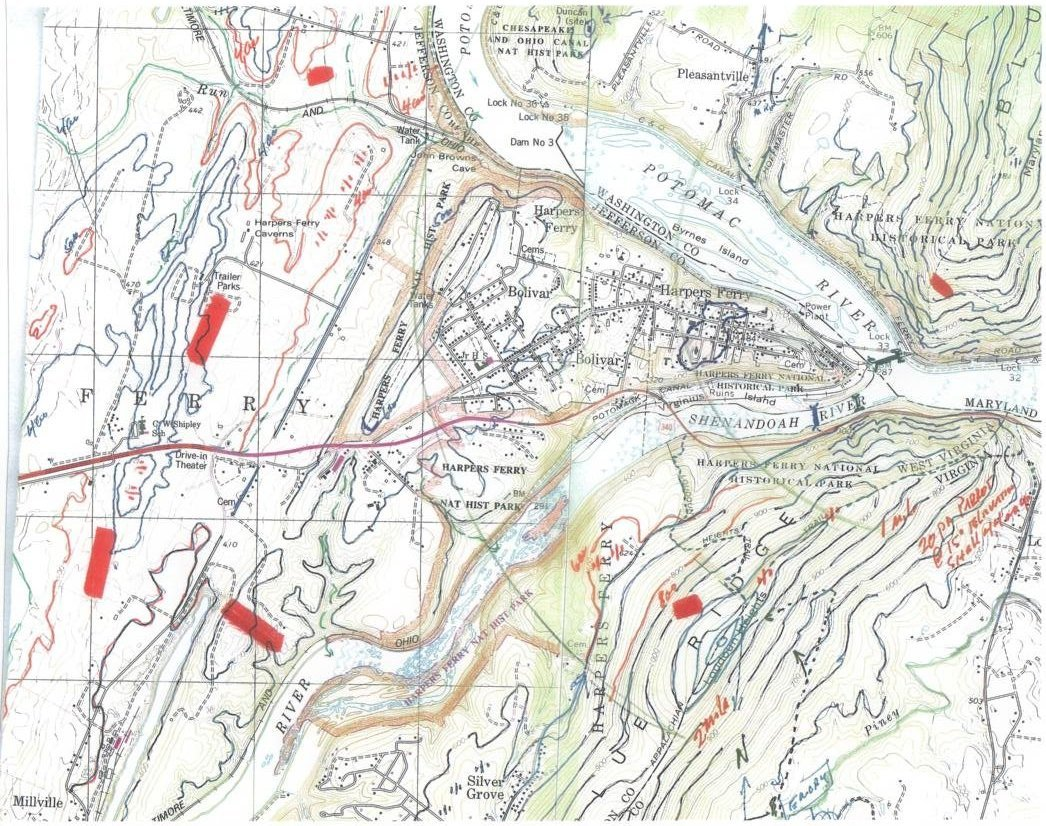 Harpers Ferry Topo Map
