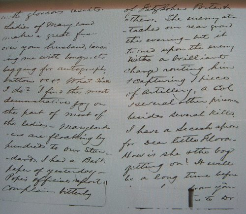 General Stuart Letter to his wife