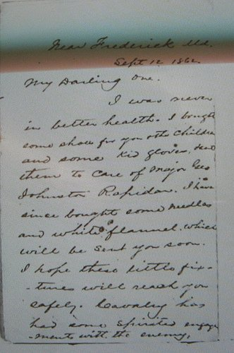 JEB Stuart Letter to his wife Flora