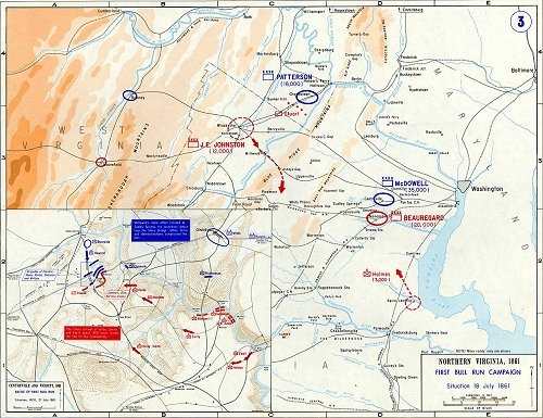 First Manassas Civil War Campaign Map