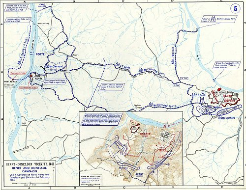 Fort Donelson Tennessee battle map
