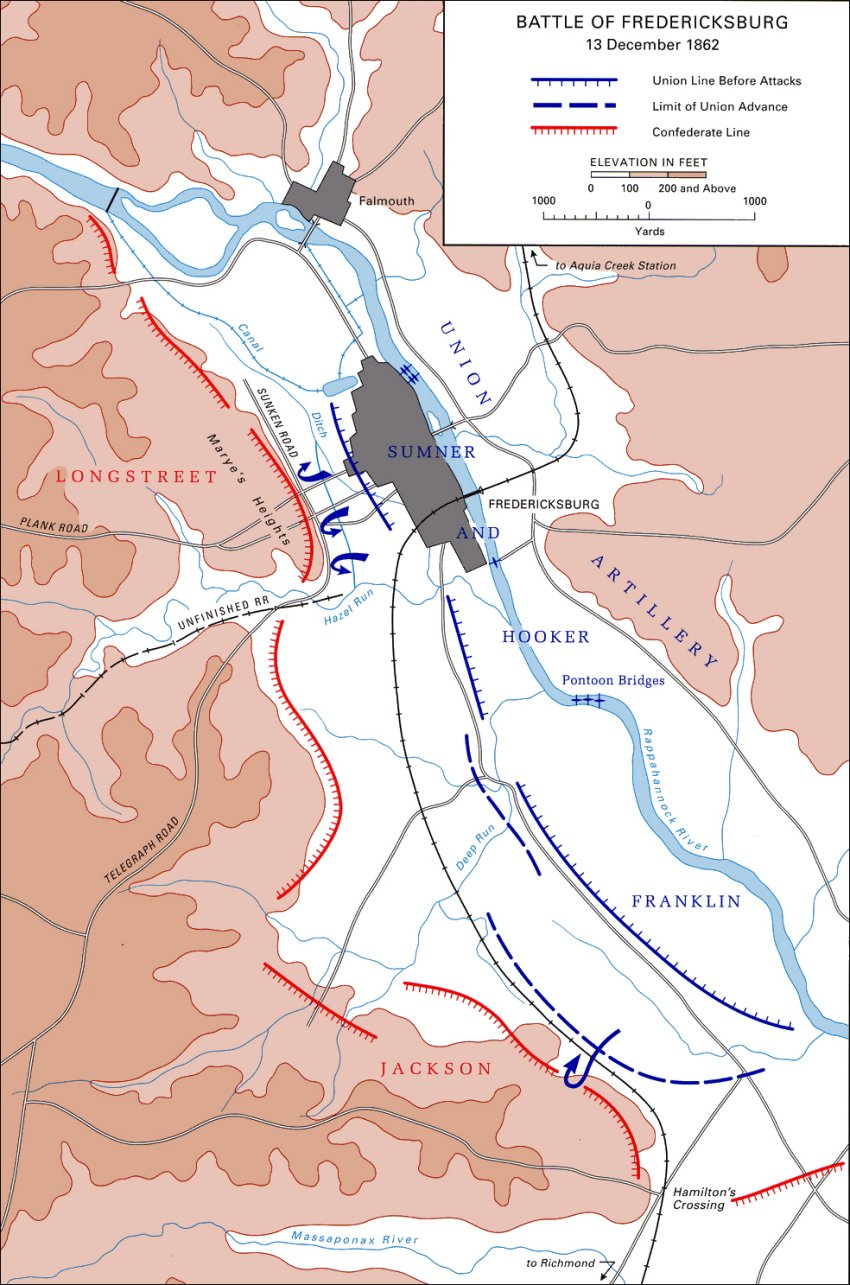 Fredericksburg Battle Map