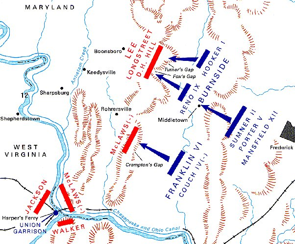 South Mountain Civil War battle map