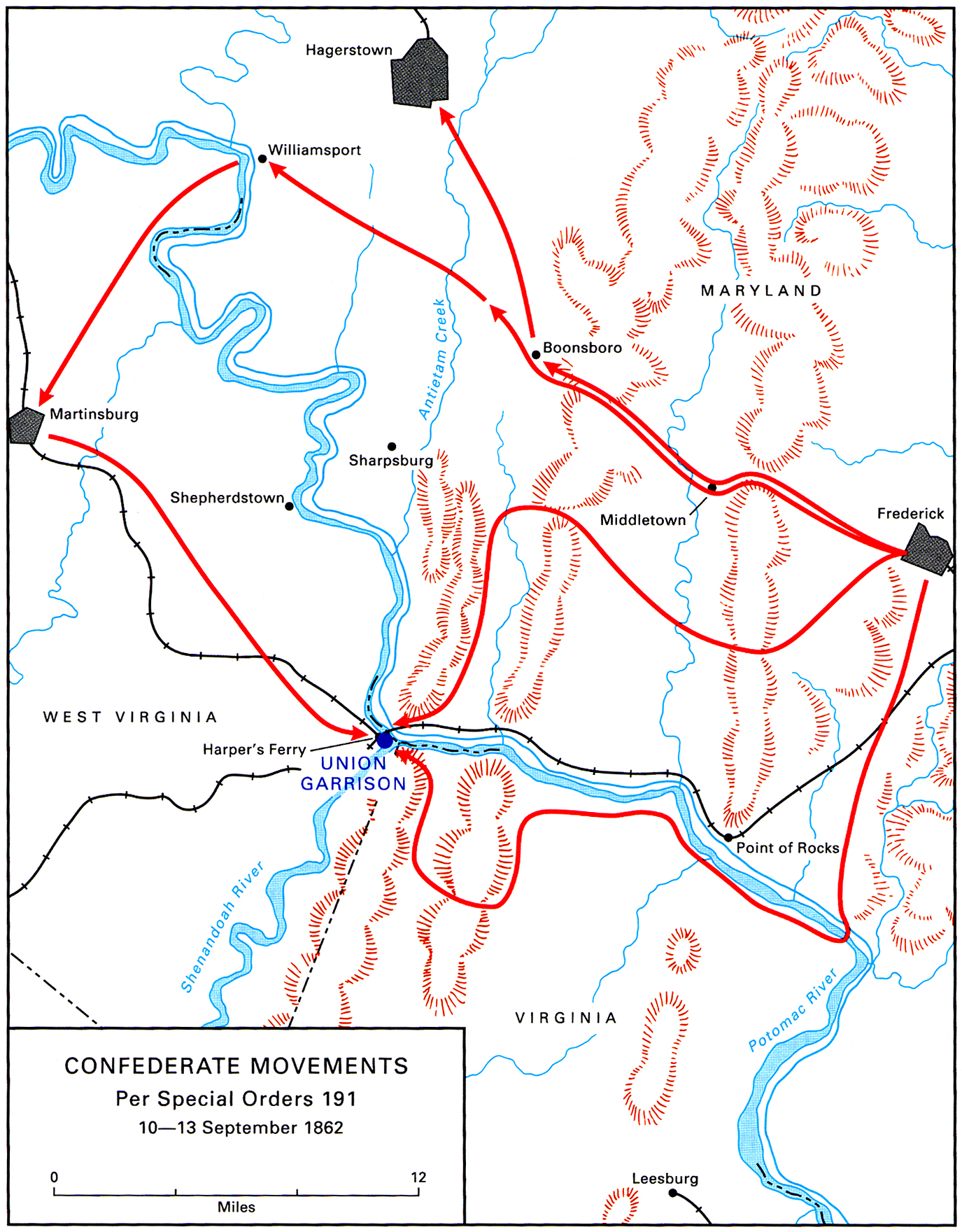 American Civil War Campaign Area And Battle Maps - Paducah ky map