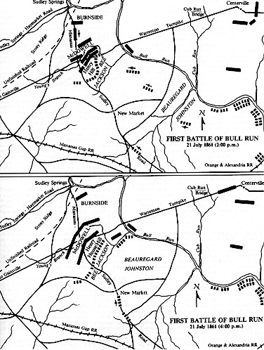 First Manassas Battle Map