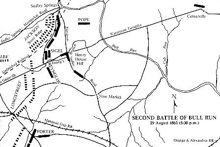 second battle at Bull Run battle Map