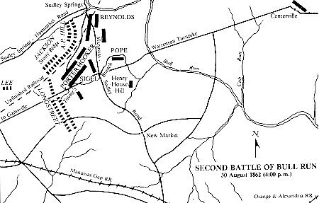 Second Manassas Battle detail map