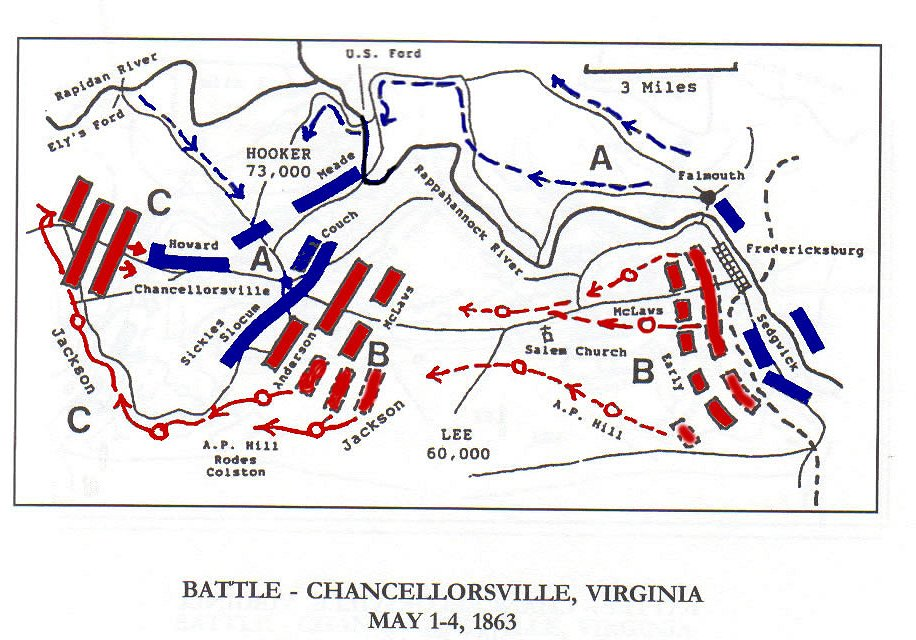 Chancellorsville Virginia Battle Map