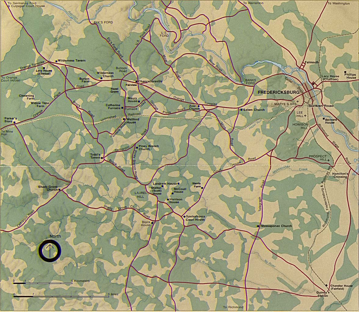 Virginia Civil War wilderness battle map